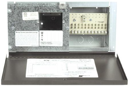parallax 30 amp fuse panel w door 80d rv parts express. Black Bedroom Furniture Sets. Home Design Ideas