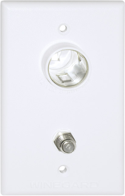 Winegard Tg 7321 Rv 12 Volt And Tv Outlet Ivory