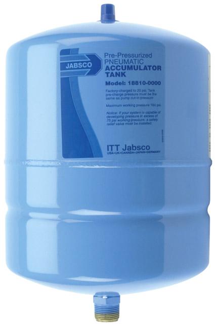 jabsco 2 gallon accumulator tank 18810 0000 smooth flow. Black Bedroom Furniture Sets. Home Design Ideas
