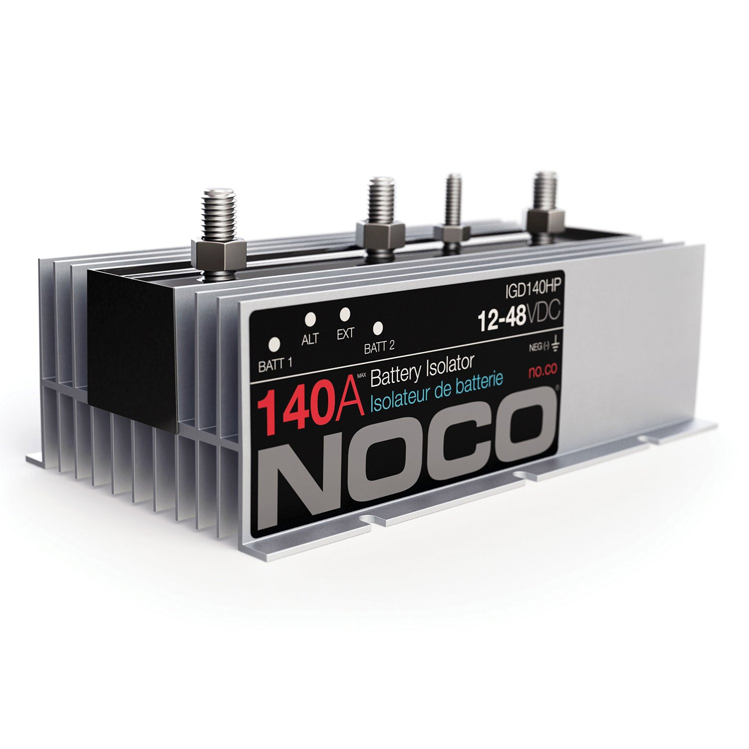 NOCO IGD140HP 140 Amp Battery Isolator on battery switch wiring diagram, battery isolator solenoid diagram, dual battery isolator diagram, battery isolator circuit diagram, noco battery isolator installation, boat battery wiring diagram, noco igd200hp battery isolator 200 amp, rv battery isolator diagram, noco battery isolator truck chevy 2012, multi battery isolator diagram, battery isolation solenoid wiring diagram, dual battery wiring diagram, challenger on rv battery wiring diagram,