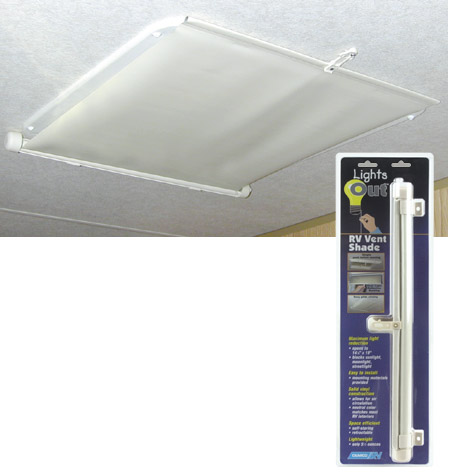 Camco Cream Lights Out Vent Shade 42913