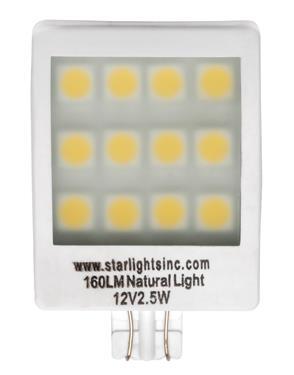 Mini 12 Volt 13 Watt Wedge Base 912 Bulb Each Bulb